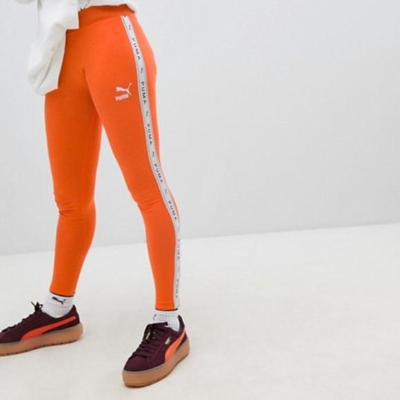 c45e4b581f0044 Puma Orange Leggings. M_5ca027dcbbf07613f9473647